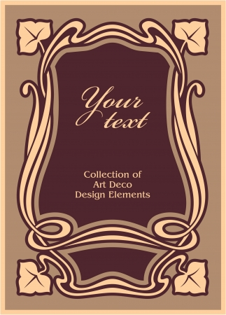 art nouveau frame: Art Deco Frame  Illustration