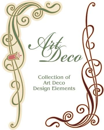 esquineros de flores: Art Deco de elementos de dise�o - Rinc�n