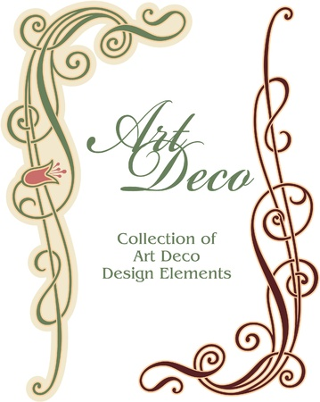 art nouveau frame: Art Deco Design Element - Corner