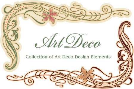 art deco border: Art Deco Design Element - Corner