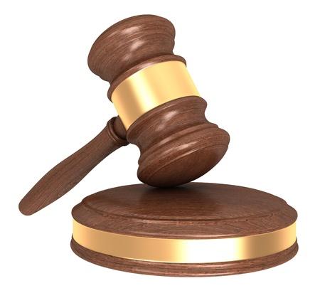 jurado: Martillo de madera aislada