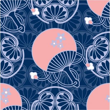 Oriental - Japanese - Seamless Pattern  Vector
