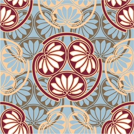 Oriental - Japanese - Seamless Pattern