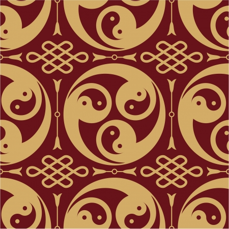 yin and yang: Oriental - Japanese - Seamless Pattern