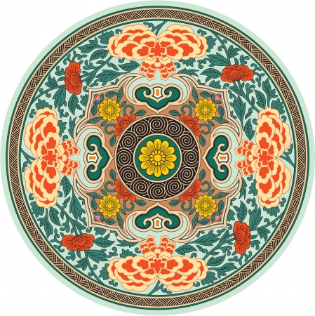 Chinese Traditional Pattern Rosette