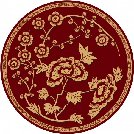 oriental: Chinese Traditional Floral Pattern