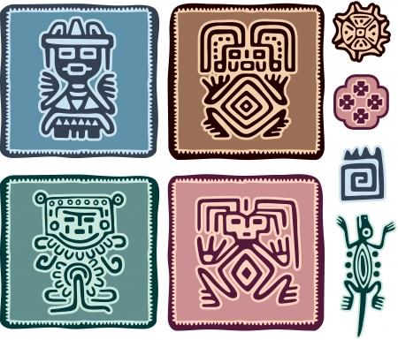mexican art: Serie di elementi di messicani