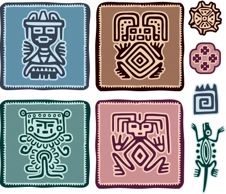 tribes: Set of Mexican Design Elements
