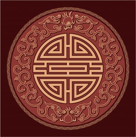 Oriental Feng Shui Pattern Stock Vector - 14661659