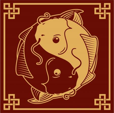 shui: Oriental Yin Yang Simbolo Pesce