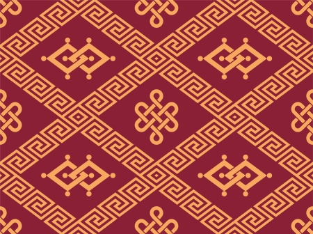 mongolian: Oriental Seamless Tile - Traditional Pattern