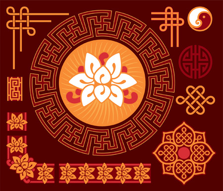 ing: Set of Oriental - Chinese - Design Elements
