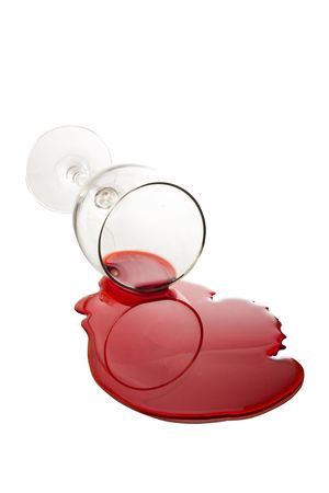 Spilled Wine Glass photo