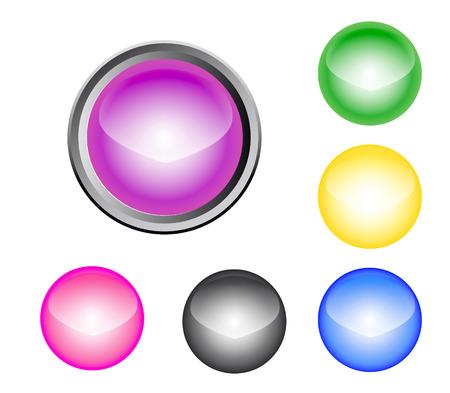 Metalic Glossy Button Vector