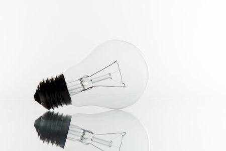 A very pure light bulb on white. Stock Photo - 6794325