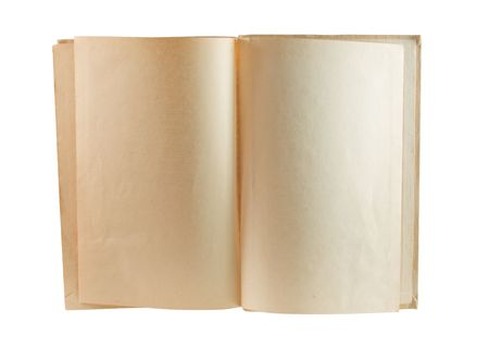 Old Book Showing Two Blank Pages photo