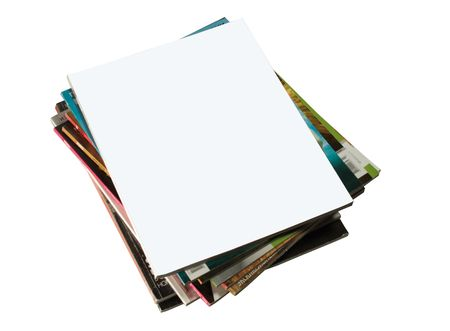 shot of stack of magazines with blank cover Stock Photo - 6794367