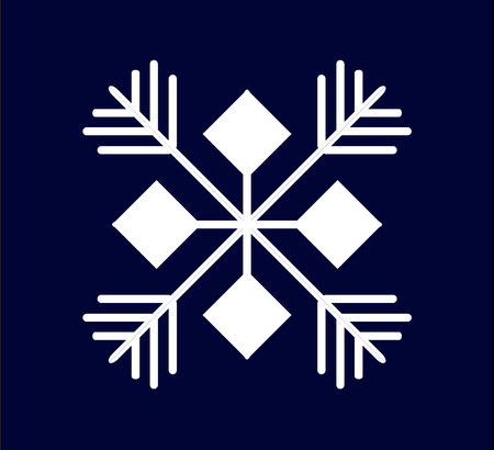 White snowflake on a dark blue background Stock Vector - 7894722