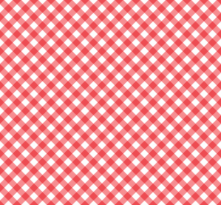 seamless gingham pattern in red and white. Stock Vector - 7894724