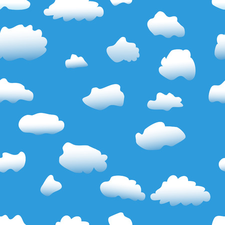 Seamless  background: sky &amp, clouds wallpaper Stock Vector - 7933216