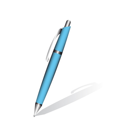 blue pen: Blue pen isolated on the white background.
