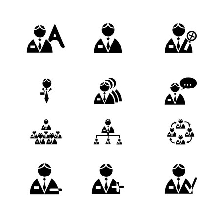 vectored: Vectored men icon set for business. Vector.