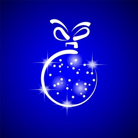 Christmas decoration stylized ball. Vector illustration. Stock Vector - 8076940