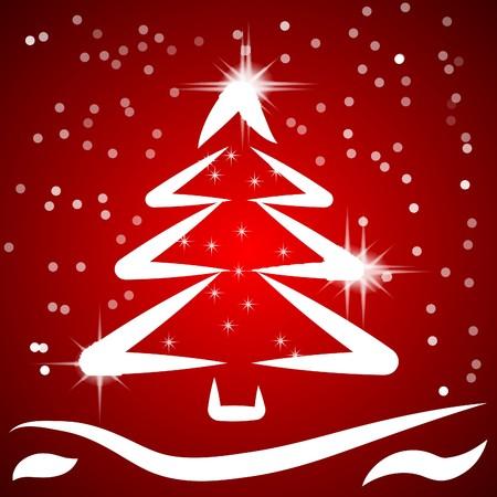coniferous forest: Fondo de Navidad de red con el �rbol de la fantas�a. Vector.