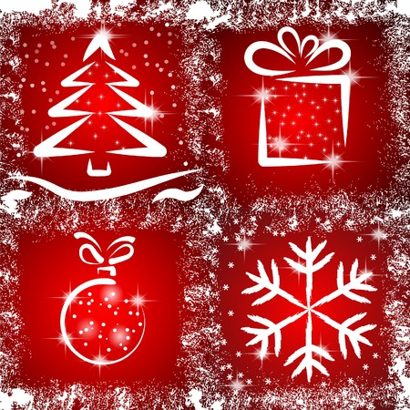 icons with a Christmas theme. Stock Vector - 8262762