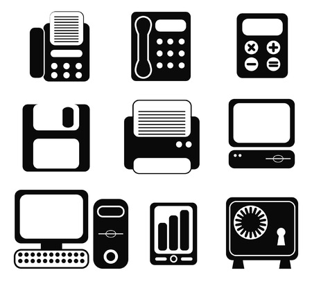 Office & Business icons Stock Vector - 8708752