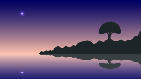 inmejorablemente: Vector silueta y puesta de sol. Ideal para su uso en el dise�o