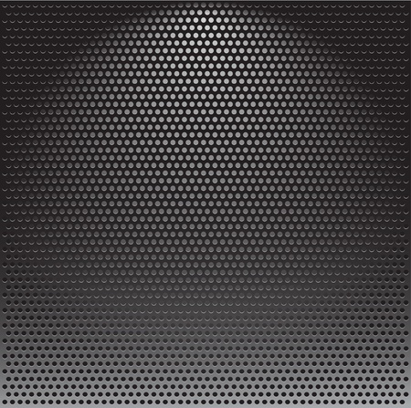 metal grate: Realistic vector speaker grill background Illustration