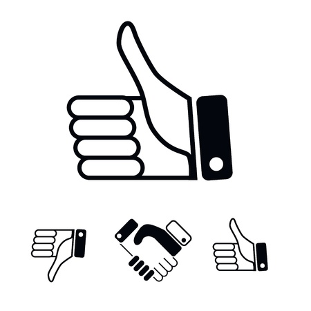 Like Icons and other hands. Vector