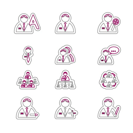 vectored: Vectored men icon set for business. Vector Illustration. Illustration