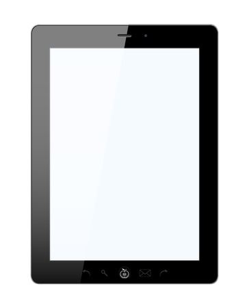 tablet: Vector stylish tablet PC with isolated background