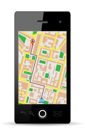 Touch screen cellphone gps  Vector Illustration  EPS10  Vector