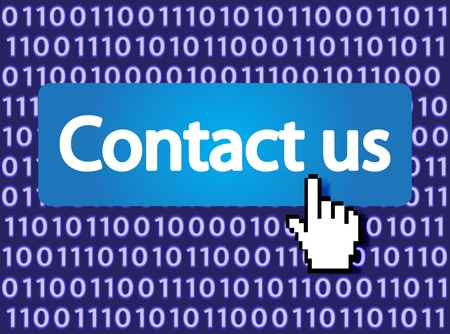 Contact us Button with Hand Cursor  Vector