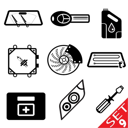 Car part icon set 9  Vector