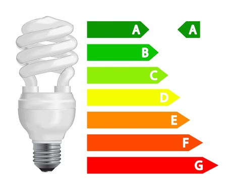 Energy efficiency  fluorescent light bulb Stock Vector - 12796517