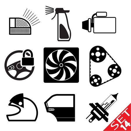 Car part icon set 14  Vector