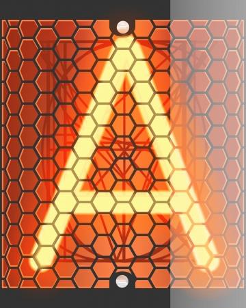 transistor: Nixie tube indicateur Lettre A partir de r�tro, garantie de transparence