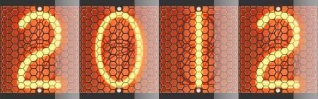 Nixie tube indicator of retro  Vector illustration  2012 Vector