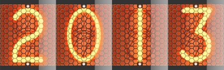 Nixie tube indicator of retro  Vector illustration  New year 2013  Vector