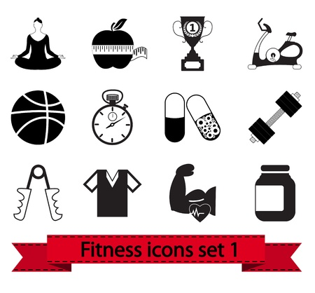 Professional fitness icons for your website illustration  Vector