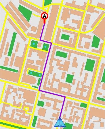 gps  map: GPS map. Vector Illustration.