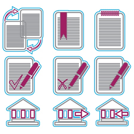 Vector business icons set 5 Stock Photo - 16785489