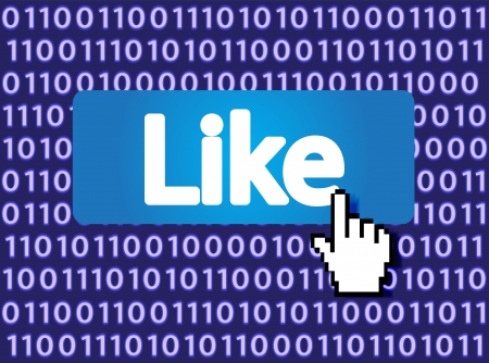 Like Button with Hand Cursor  Vector Illustration Stock Illustration - 16785491