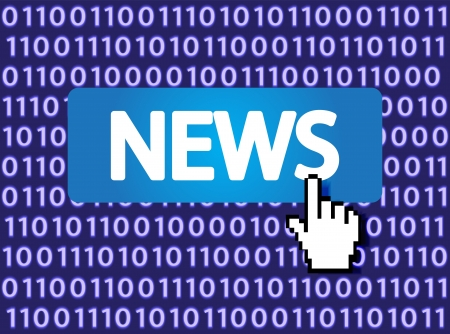 News Button with Hand Cursor  Vector Illustration Stock Illustration - 16785492
