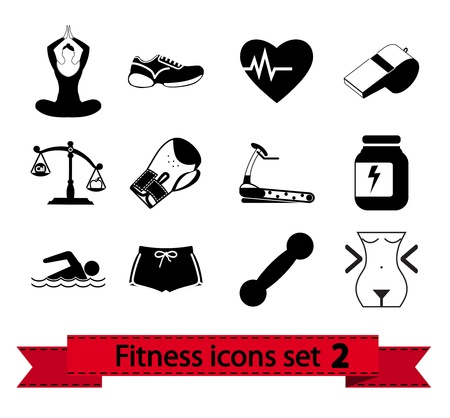 calorie: Professiona fitnessl icons for your website  illustration  Illustration