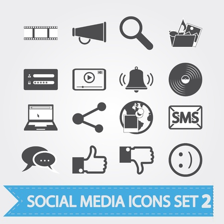 ソーシャル メディア関連の設計やアプリケーションのアイコン  イラスト・ベクター素材